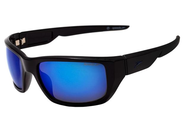 88cff4a1f Óculos de Sol Speedo Fireblade A03 Preto/Azul Espelhado - Óculos de ...