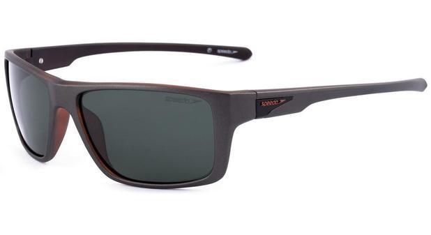 7b32f24e5 Óculos de Sol Speedo Polarizado Wakeboard H01 Cinza/Laranja Fosco ...