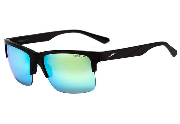 28e1fa1e3f4e4 Óculos de Sol Speedo Trinidad A02 Preto Azul Espelhado - Óculos de ...