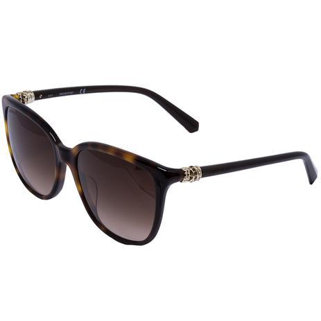 1581506c5be23 Óculos de Sol Swarovski Feminino SK146H 52G - Acetato Tartaruga Marrom e  Lente Marrom Degradê