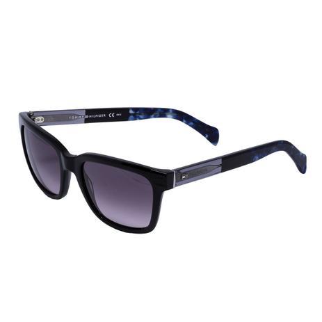 31fbe26cd1bb3 Óculos de Sol Tommy Hilfiger Feminino TH1289 S - Acetato Preto e Lente  Bordô Degradê - Óculos de Sol - Magazine Luiza