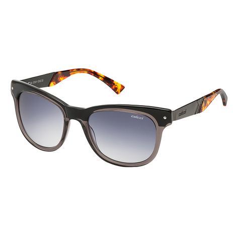 Óculos De Sol Unissex Cinza Translucido Com Chumbo E Marrom Demi Colcci ece320cd2c