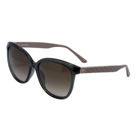 42cb1c8c4 Óculos de Sol Victor Hugo Feminino SH1713 - Acetato Verde Musgo e Lente  Marrom Degradê