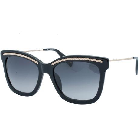 7ed23e4de41c9 Óculos de Sol Victor Hugo Feminino SH1774 0700 - Acetato Preto e Lente Preto  Degradê