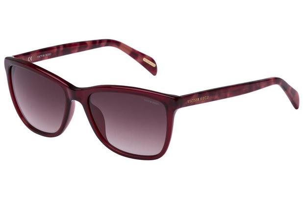 d82963a224d82 Óculos de Sol Victor Hugo SH1729 0L00 55 Bordô Mesclado - Óculos de ...
