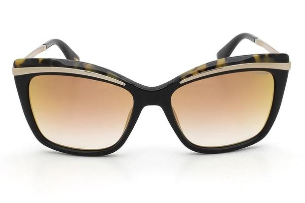 862df71dc Óculos de Sol Victor Hugo SH1739 700G/55 Preto/Tartaruga ...