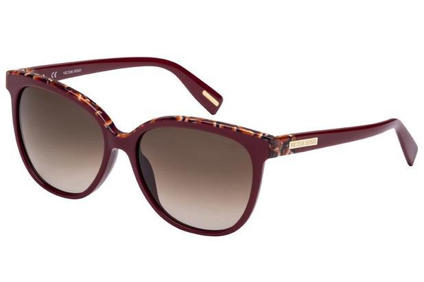 e885a2eaf1c81 Óculos de Sol Victor Hugo SH1762 0G96 55 Bordô Mesclado - Óculos de ...