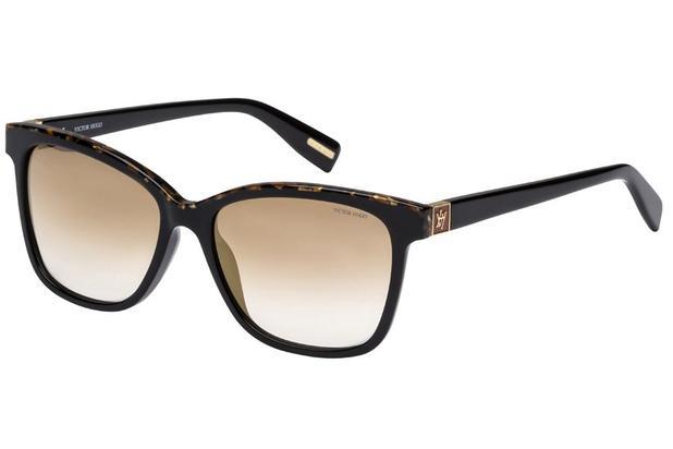 90da41b3d Óculos de Sol Victor Hugo SH1763 T24G/54 Preto/Mesclado ...