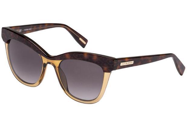 9ee54410b Óculos de Sol Victor Hugo SH1764 07UX/51 Marrom Transparente/Tartaruga