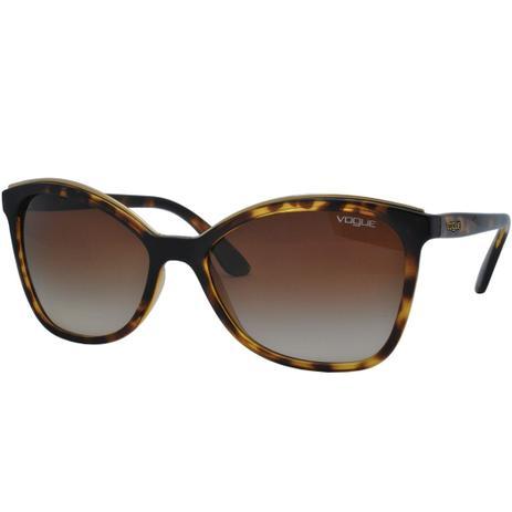 901285ab1 Óculos de Sol Vogue Feminino VO5159SL W65613 - Acetato Tartaruga Marrom e  Lente Marrom Degradê