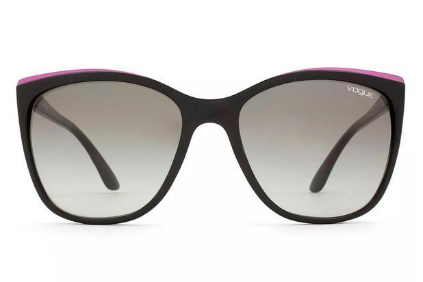 cb0782411d979 Óculos de Sol Vogue VO5189SL W44 11 58 Preto Brilhante Roxo - Óculos ...