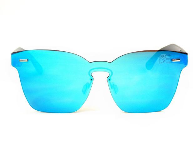 Óculos de Sol Wayfarer Flat Drop mE Espelhado Azul - Drop me acessorios 6934f90bf5