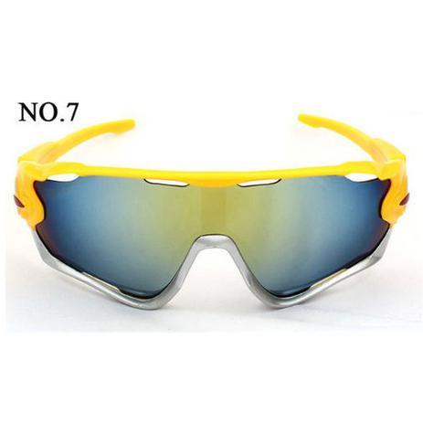 97b0774479807 Óculos Esportivo Sol Bike Ciclismo Corrida Vôlei Uv400 Cores - Oulaiou