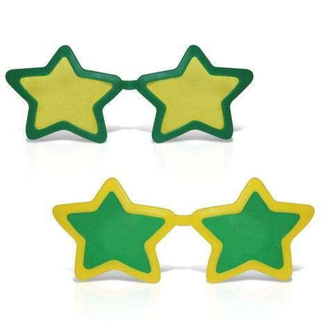60219c65ffd1b Óculos Estrela Gigante Plástico com Lente Verde e Amarelo 12 unidades Brasil  - Festabox