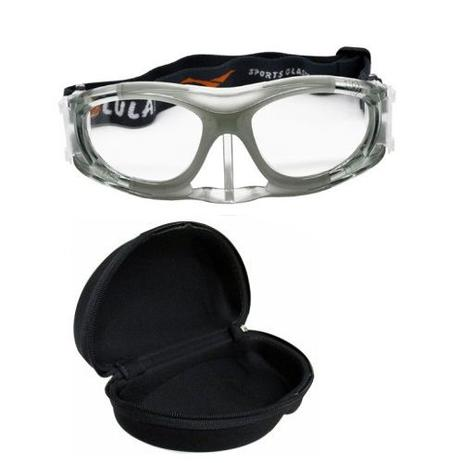 Óculos Eyki De Futebol Basquete Incolor Infantil Com Protetor Nasal + Case  - Lei li imports 51a024ef719
