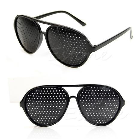 bbef5c4e4 Óculos Furadinho para Correção e Relaxamento das Vistas - Modelo Aviador -  Vinkin