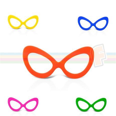 00045411c Óculos Gatão Colorido Sem Lente 10 unidades - Festabox - Óculos de ...