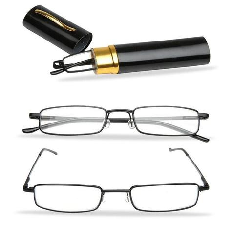 Imagem de Óculos leitura estojo caneta levar na bolsa no bolso unissex