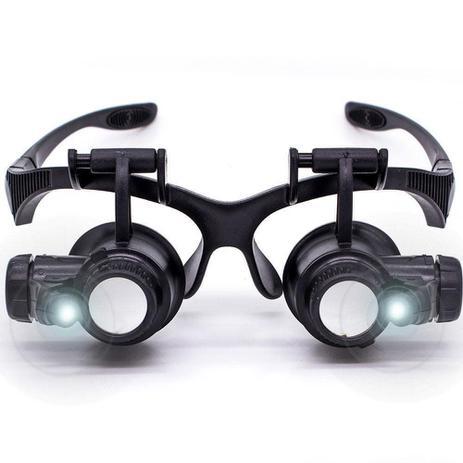 17130aeef Óculos lupa cabeça com led profissional jogo 4 Lentes CBR03594 - Commerce  brasil