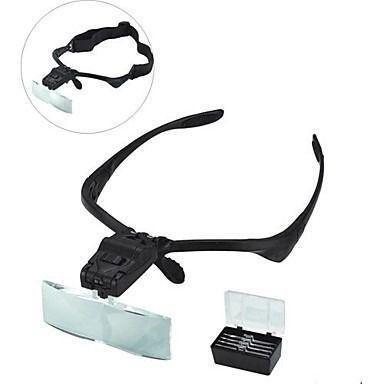 Imagem de Oculos Lupa De Cabeca Led Profissional + 5 Lentes E Estojo