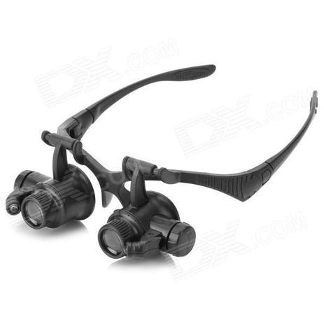 c75a0807aec10 Oculos lupa de cabeca profissional jogo de 4 lentes com iluminacao led  aumento de ate 25x - Faça resolva