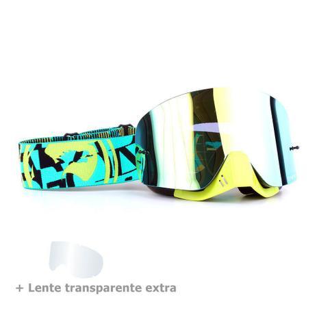 cca4888fb Menor preço em Óculos Motocross Dragon NFX Cast - Lente Dourada Espelhada +  Lente Transparente