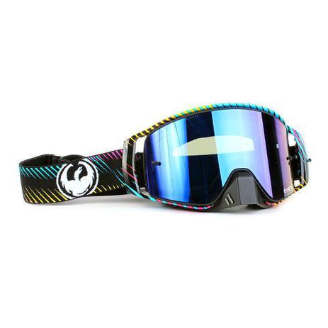 0989d2d1c Óculos Motocross Dragon NFX2 Blur - Lente Azul Espelhada + Tear Off com 10  unidades