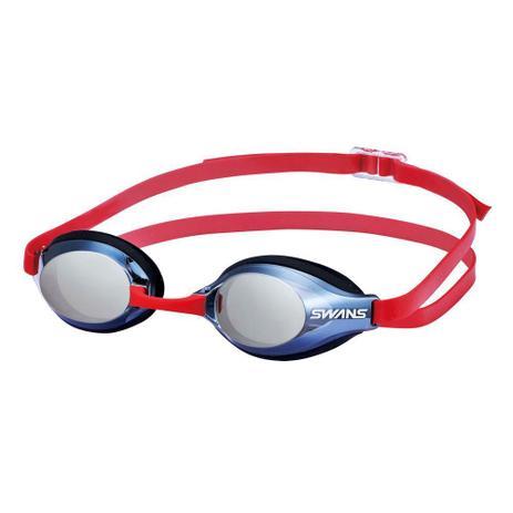 699150810 Óculos Natação SWANS SR-3M Lente Fumê Espelhada Correia Vermelha ...