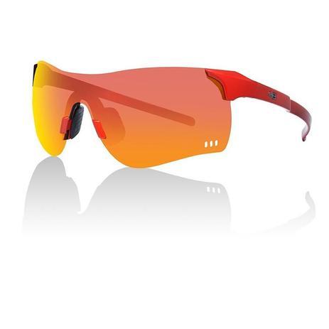 cb0a2c65bd669 Oculos para ciclismo hb quad f fire vermelho lente espelhada vermelha