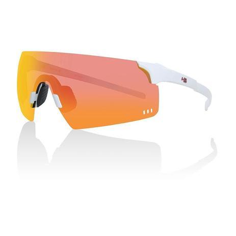 1a28c3a0d9 Oculos para ciclismo hb quad r branco perolado pearled white lente  espelhada vermelha