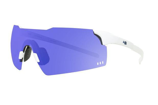 245d0412d4e97 Oculos para ciclismo hb quad v pearled white branco perolado com lente  espelhada azul