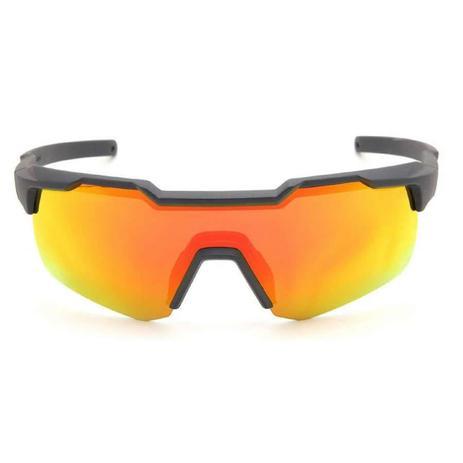 Oculos para ciclismo hb shield matte navy azul fosco com lente espelhada  vermelha 19aa322f95