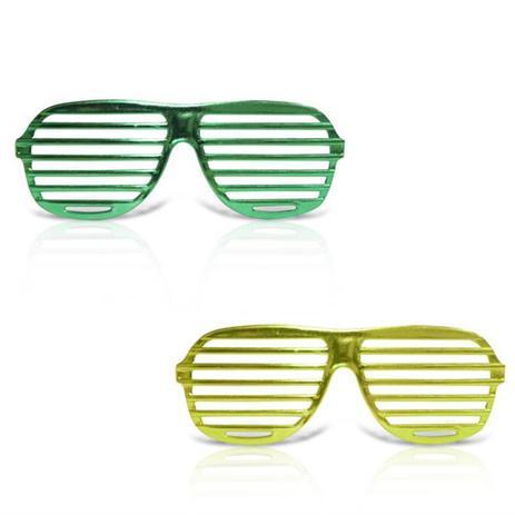 Óculos Persiana Metalizado Verde e Amarelo com Lente 12 unidades - Festabox 46f694c461