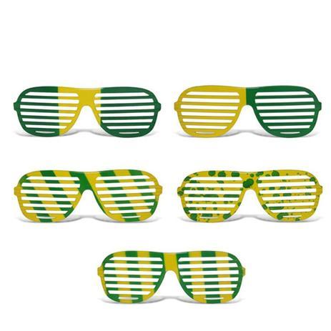 Óculos Persiana Multicolor Plástico Verde e Amarelo 12 unidades Brasil -  Festabox 5e00e88ee0