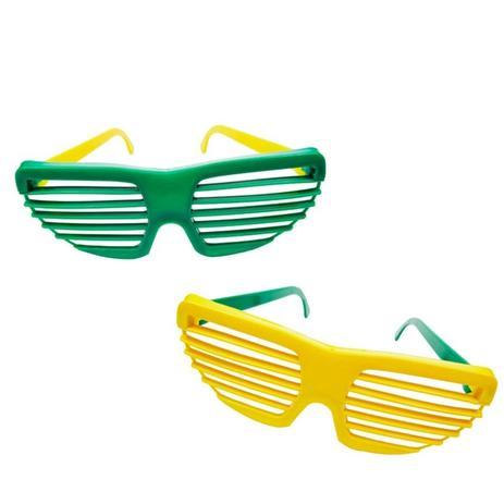 Óculos Persiana Verde e Amarela 12 unidades Dodô - Festabox - Óculos ... a59ea2bb3c