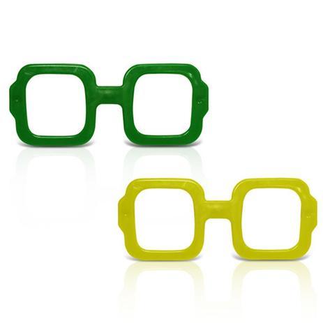 Óculos Quadrado Verde e Amarelo 12 unidades - Festabox - Óculos de ... 35c73eaec0