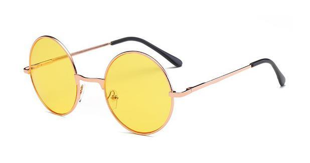 7a1d60c24 Óculos Redondo John Lennon Lente Amarela Para Dirigir à Noite - Vinkin