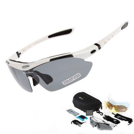 b9dc8412ad9fa Óculos Sol Bike Bicicleta Ciclismo Rockbros Polarizado 5 Lentes (apenas 1 é  polarizado) Branco