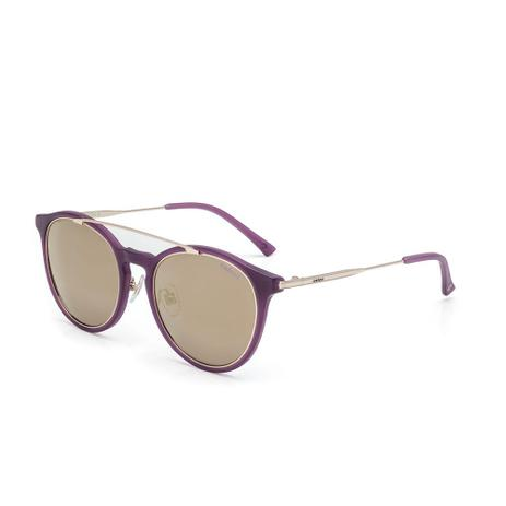 7dbedfb89ce6f Oculos Sol Colcci C0089 Bordo BrilhoC  Dourado Brilho L Marrom R ...