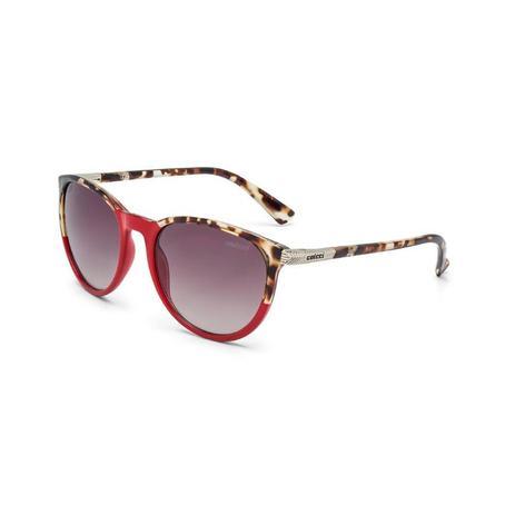 b5c08c2b4f628 Oculos Sol Colcci Donna Vermelho Com Detalhe Demi Caramelo Brilho ...