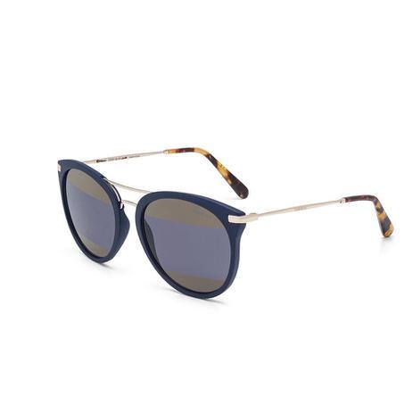 6ec8b151f3351 Oculos Sol Colcci Linda Azul Escuro Fechado Fosco Com Dourado Bri ...