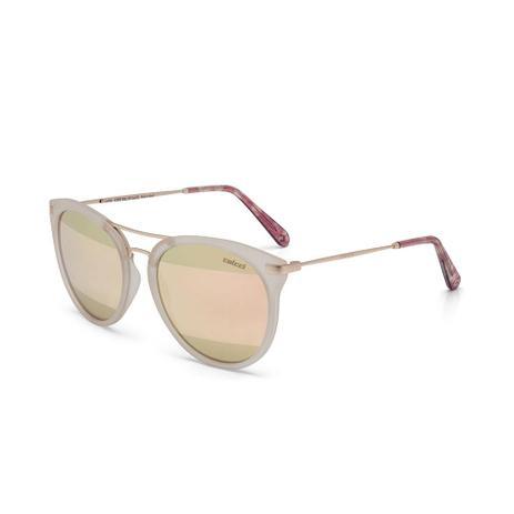 8de4ad5faef64 Oculos Sol Colcci Linda Nude Leitoso Fosco Com Dourado Fosco L Do ...
