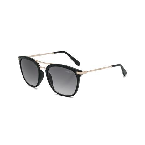 ee181c347 Oculos Sol Colcci Mag Preto Fosco Couro Com Dourado Brilho L Cinz - Pa