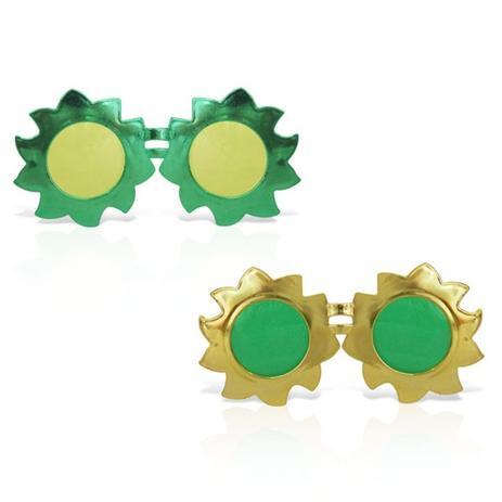 Óculos Sol Metalizado Verde e Amarelo 12 unidades Brasil - Festabox ... ae0ca26b7e