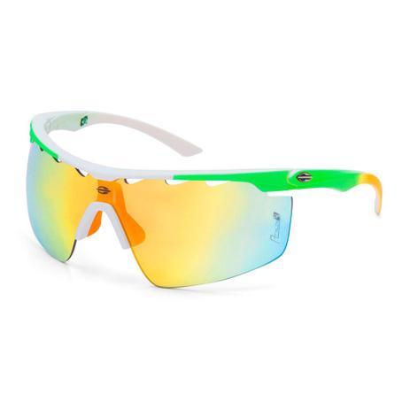 d2d86becbd921 Óculos sol mormaii athlon 4 branco emborrachado det. amarelo brnaco fosco