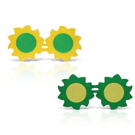 c0fc8b35c0b77 Óculos Sol Plástico Verde e Amarelo 12 unidades Brasil - Festabox ...