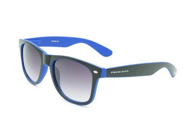6085dd43fe08d Óculos solar Prorider wayfarer preto e azul com lente degradê Y21B ...