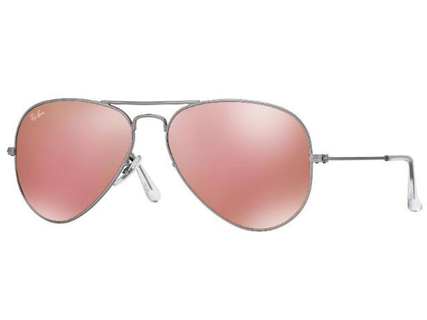 0895343ad Oculos Solar Ray Ban Aviador Rb3025 019 Z2 58mm Prata Lente Rosa Espelhada