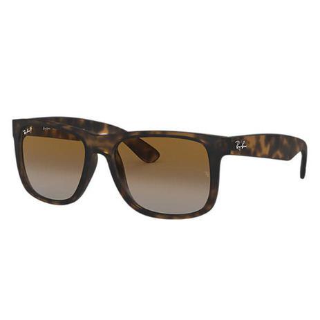 98b20143e Óculos Solar Ray-Ban Justin Classico Tartaruga Lente Polarizado Medidas 55- 16-145 - Ray ban