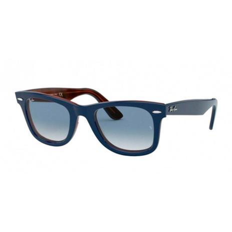 gran selección de 9cec7 b27d6 Óculos Solar Ray-Ban Wayfarer Modelo RB2140 12783F Azul Lente Cristal  Medidas 50-22-150 - Ray ban